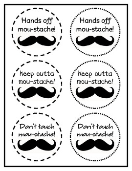 Moustache Gift or Supply Labels