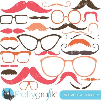 Moustache Prop, Mustache clipart commercial use, vector gr