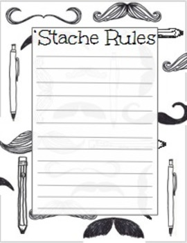 Mustache Theme Rules Poster