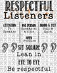 Speaking and Listening Posters Moustache Themed