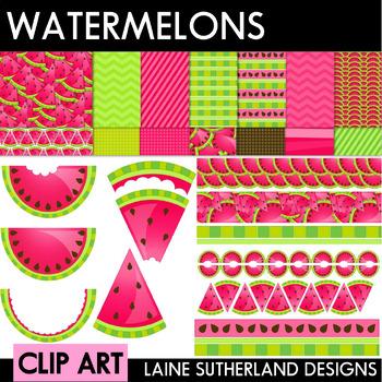 Mouth-watering Water Melon Digi Paper Set