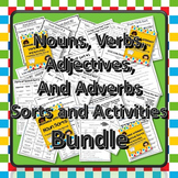 Movable Literacy: Noun, Verb, Adjective, and Adverb Super Bundle!