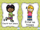 Move It! French Exercise Flash Cards for Brain Breaks and D.P.A.