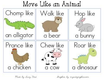 Move Like an Animal Cards