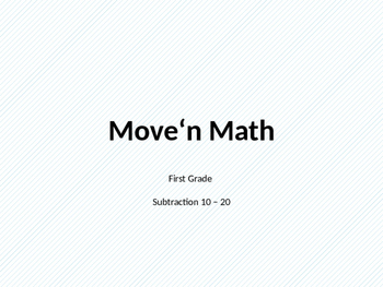 Move'n Math Subtract 10-20