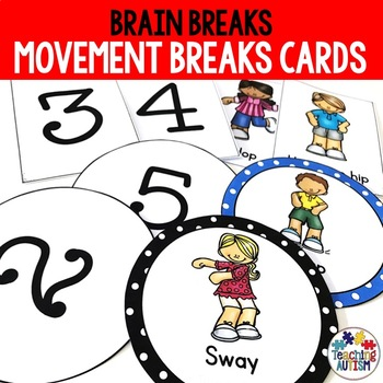 Movement Breaks, Brain Breaks Cards