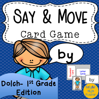 Movement Card Game for Dolch First Grade Sight Words