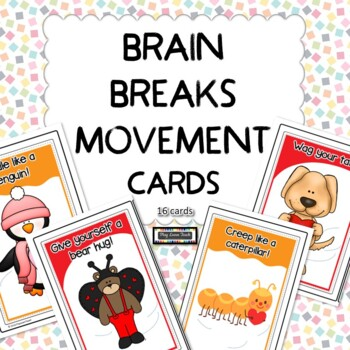 Brain breaks Movement Cards Free