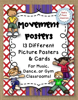 Movement Posters for Music, Dance, & Gym Class