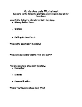 Movie Analysis Worksheet