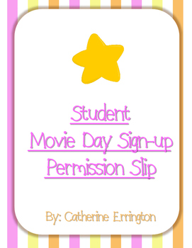 Movie Day Permission Form