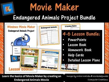 Movie Maker – Endangered Animals Project Bundle (ISTE 2016