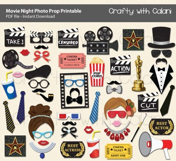 Movie Night Party Photo Booth Prop, Academy Award Party Ph