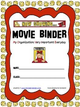 Movie {Popcorn} Binder Cover