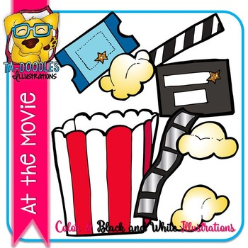 Movie Popcorn Commercial Use Clipart