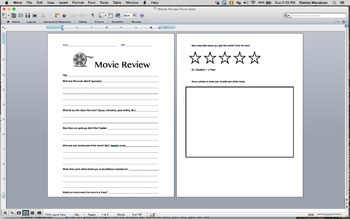 Movie Review Form