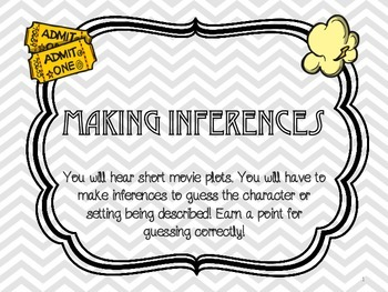 Movie Star Game Night: Making Inferences