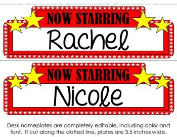 Movie Star Nameplates