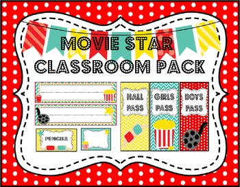 Movie Star Theme Classroom Decoration Pack