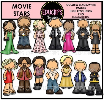Movie Stars Clip Art Bundle