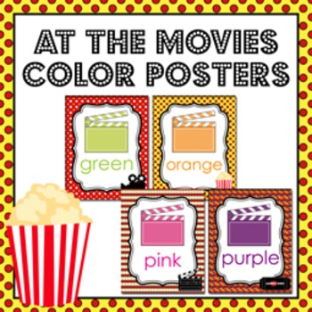 Movie Theme Color Posters