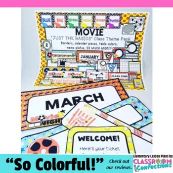 Movie Theme: Movie Classroom Decor Basics: Movie Theme Cla