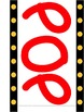 Movie Theme Popcorn Word Wall