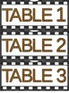 Movie Theme Table Labels and Reading Motivational Poster