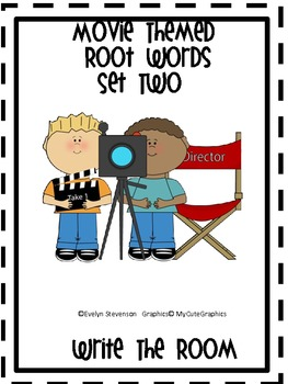 Movie Themed Root Words Write the Room Set Two
