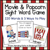 Movie Themed Sight Word Game (Dolch Word Lists)