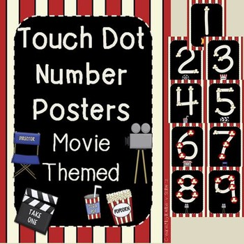 Movie Themed Touch Dot Number Posters
