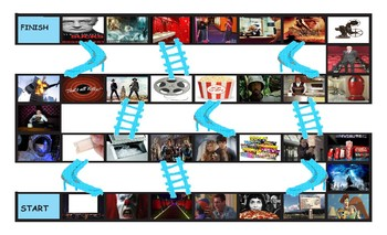 Movie Things and Genres Chutes and Ladders Board Game