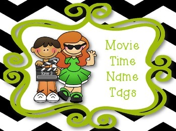 Movie Time Name Plates