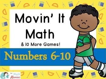 Movin' It Math Numbers 6-10: Number recognition, subitizin