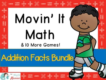 Movin' It Math Sums BUNDLE: Fluency With Addition Facts to 20