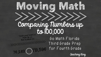 FREE Moving Math Game Comparing Numbers Up to 100,000 Inte
