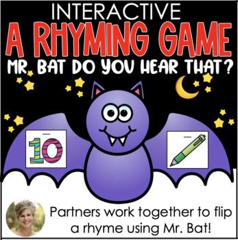 Mr. Bat, Do You Hear That? {Partner Rhyming Game} for Kind