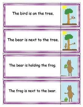 """""""Beginning Readers- Matching Game 3 and Mr. Bear- book 11"""