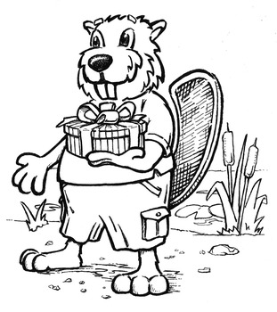 Mr. Beaver From the copyright Chef Duck's Pond Party ISBN