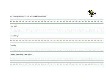 Mr. Bumblez Graphic Organizer (Informative Writing Graphic