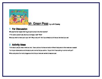 Mr. Green Peas for Literature Circles