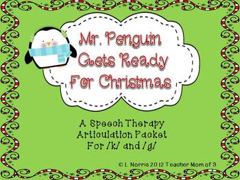 Christmas Speech Therapy Articulation /K/ /G/