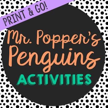 Mr. Popper's Penguins Novel Study Activities, Book Report,