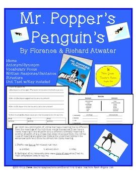 Mr.. Popper's Penguins Interactive Common Core Aligned Nov