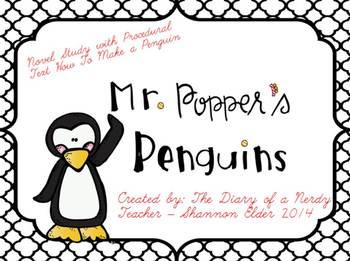 Mr. Popper's Penguins Novel Study WITH Penguin Procedural