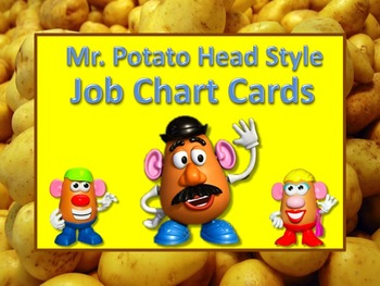 Mr. Potato Head Style Job Chart Cards / Signs - Great for