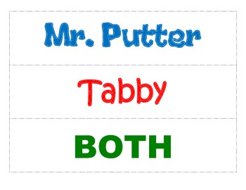 Mr. Putter and Tabby - Compare and Contrast