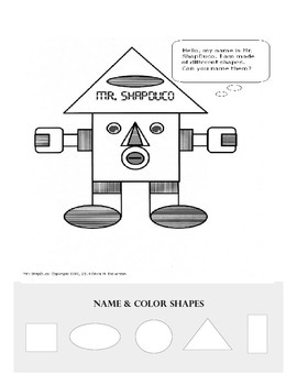 Mr. ShapDuco (Name & Color Shapes)