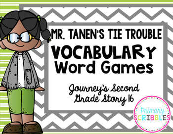 Mr. Tanen's Tie Trouble Vocabulary Word Games {Goes with J