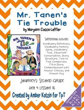 Mr. Tanen's Tie Trouble Activities 2nd Grade Journeys Unit
